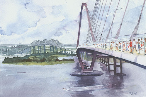 """""""Charleston Old and New"""" Giclée"""