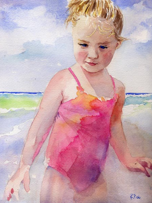 """Beach Girl"" Giclée"