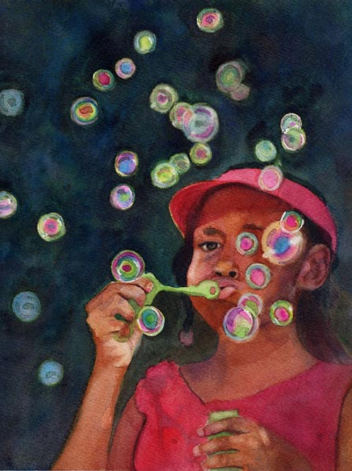 """""""Bubbles"""" Giclée"""