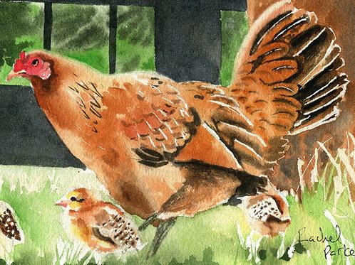 """Mama Chicken"" Giclée"