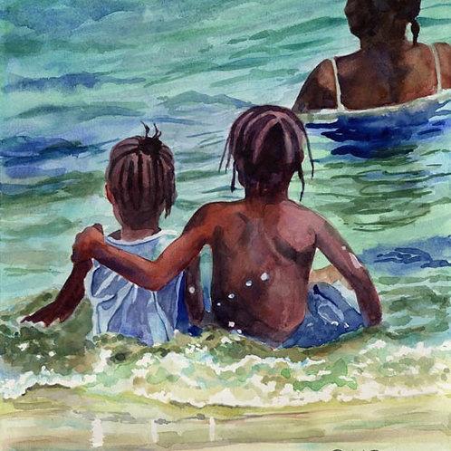 """Caribbean Kids"" Giclée"