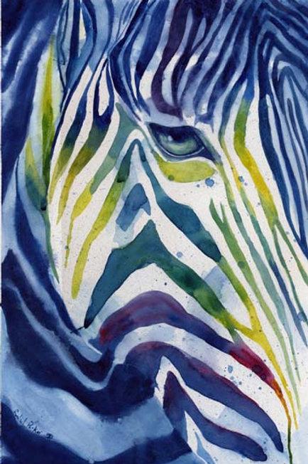 """""""Rainbow Zebra"""" Giclée"""