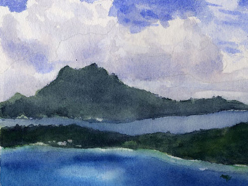 """Above French Polynesia"" Giclée"
