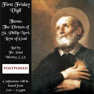 POSTPONED: First Friday Vigil - April 3