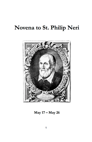 Novena to Saint Philip Neri