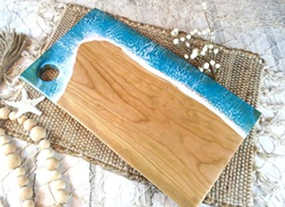 Live Edge Cherry Epoxy Beach Board