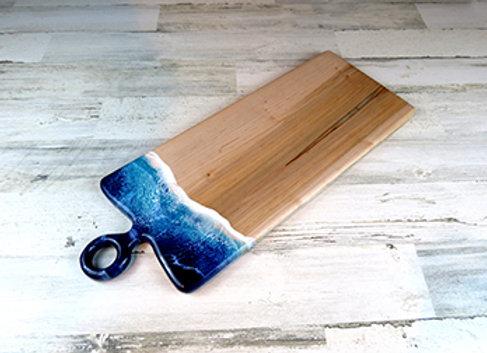 beach epoxy charcuterie board