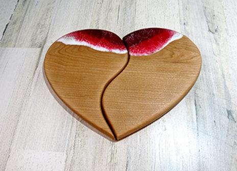 Broken heart cutting board