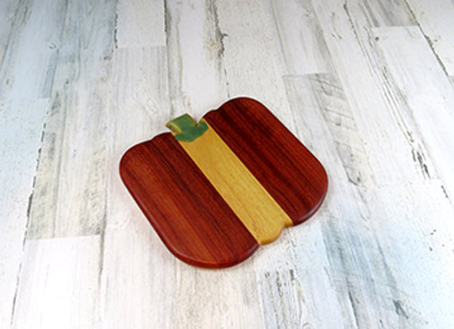 Pumpkin shaped cutting board