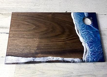 beach coast cutting board