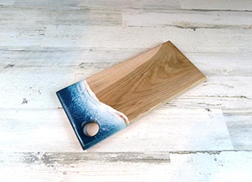 beach epoxy cutting board