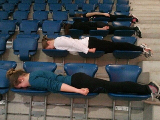 Planking at the rink