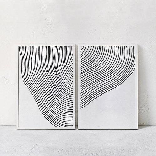Lines Black Abstrato Art