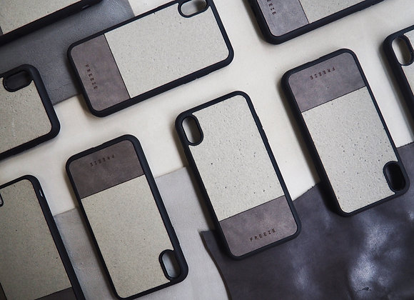 MIX AND MATCH Concrete x Leather  case 石屎混合手機殼