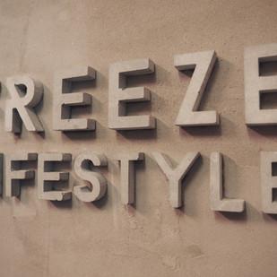 Concrete letter design