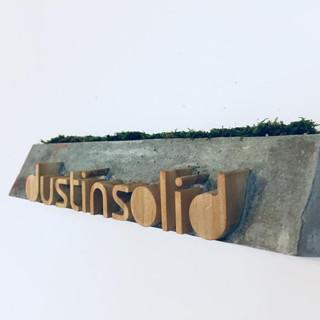 CUSTOM-MADE DOOR PLATE DUSTINSOLID STUDIO