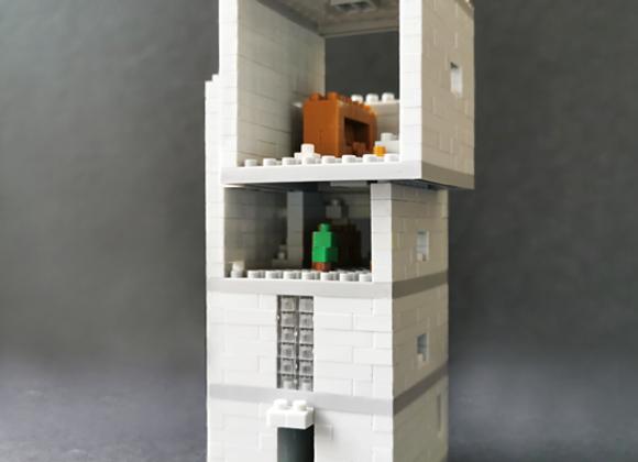 Lego architecture 安藤忠雄 - 4x4混凝土住宅微積木 Tadao Ando - 4×4 House