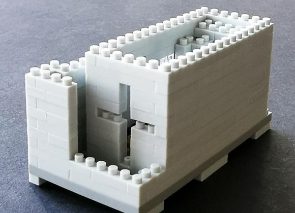 Lego architecture 安藤忠雄 - 光之教堂微積木 (小) Tadao Ando - Church of Light Brick (S)