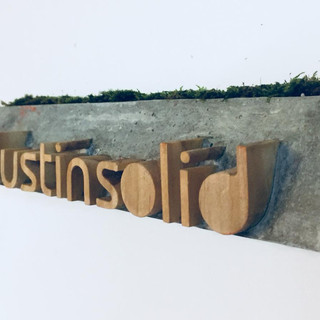 Custom made Concrete Doorplate