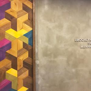 Concrete letter wall