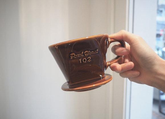 日式寶馬牌 陶瓷濾器咖啡色102