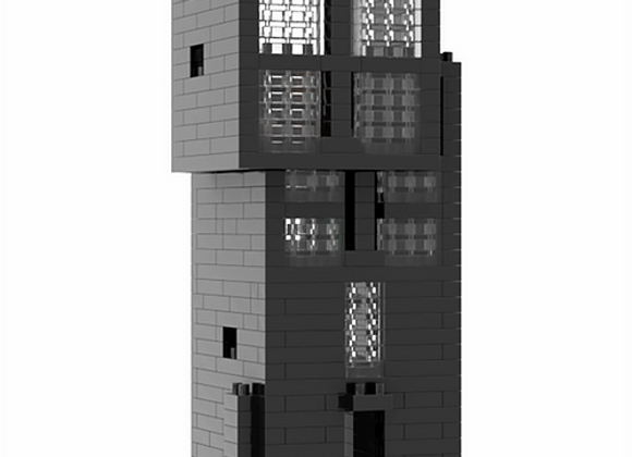Lego architecture 安藤忠雄 - 4x4混凝土住宅微積木(黑色) Tadao Ando - 4×4 House (Black)