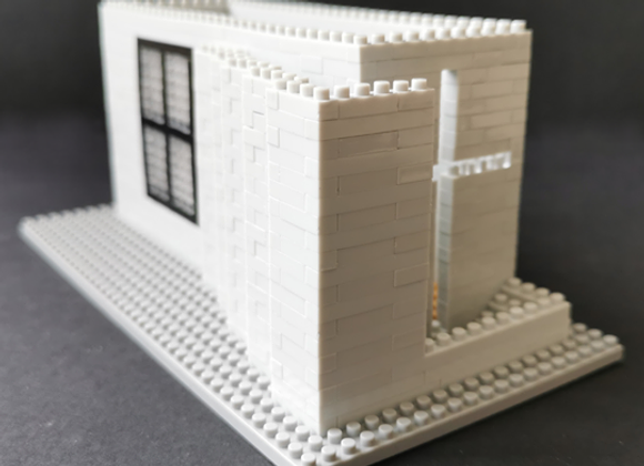Lego architecture 安藤忠雄 - 光之教堂微積木 (大) Tadao Ando - Church of Light Brick (L)