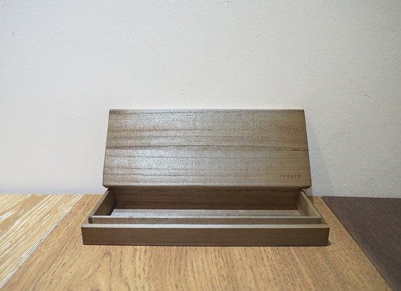 復古木製筆盒