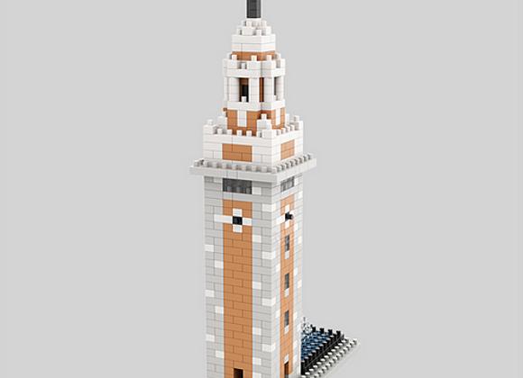 Lego architecture - 香港前九廣鐵路鐘樓微積木