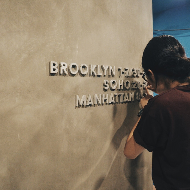COMMERCIAL PROJECT  CONCRETE LETTER WALL