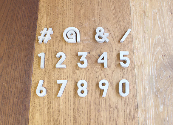 Concrete Number & Symbol (Big)
