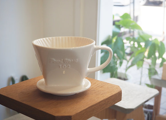 日式寶馬牌 陶瓷濾器白色102
