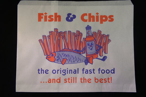 Fish and Chip Paper Bag