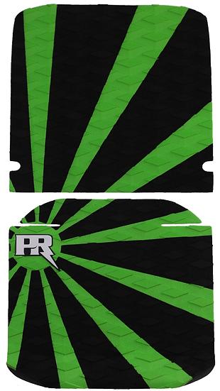 Onewheel XR Traction Pad Set Rising Sun - Green (Cobra / ViperTail Compatible)
