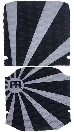 Onewheel XR Traction Pad Set Rising Sun - Grey/Black (Kush Hi Tail Compatible)
