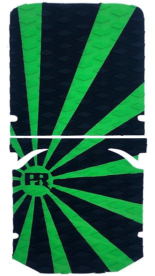Onewheel XR Traction Pad Set Rising Sun - Green/Black (OG Kush Tail Compatible