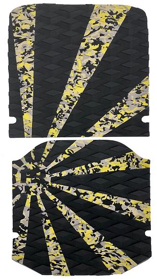 Onewheel XR Traction Pad Set - Rising Sun Yellow Camo (Kush Hi Tail Compatible)