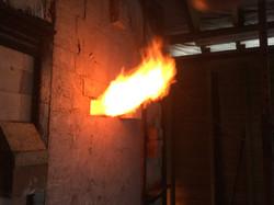 Firing the gas kiln