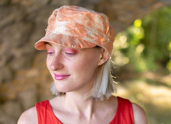 Casquette marin de soie orange