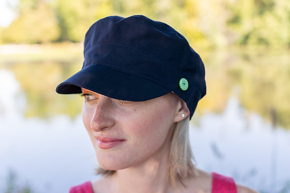 Casquette marin navy boutons verts