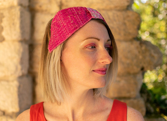 Bandeau serre-tête rabanne rose
