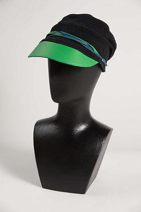 Casquette Sarah cuir vert