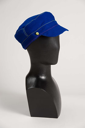 Casquette Marina Laine Bleu dur