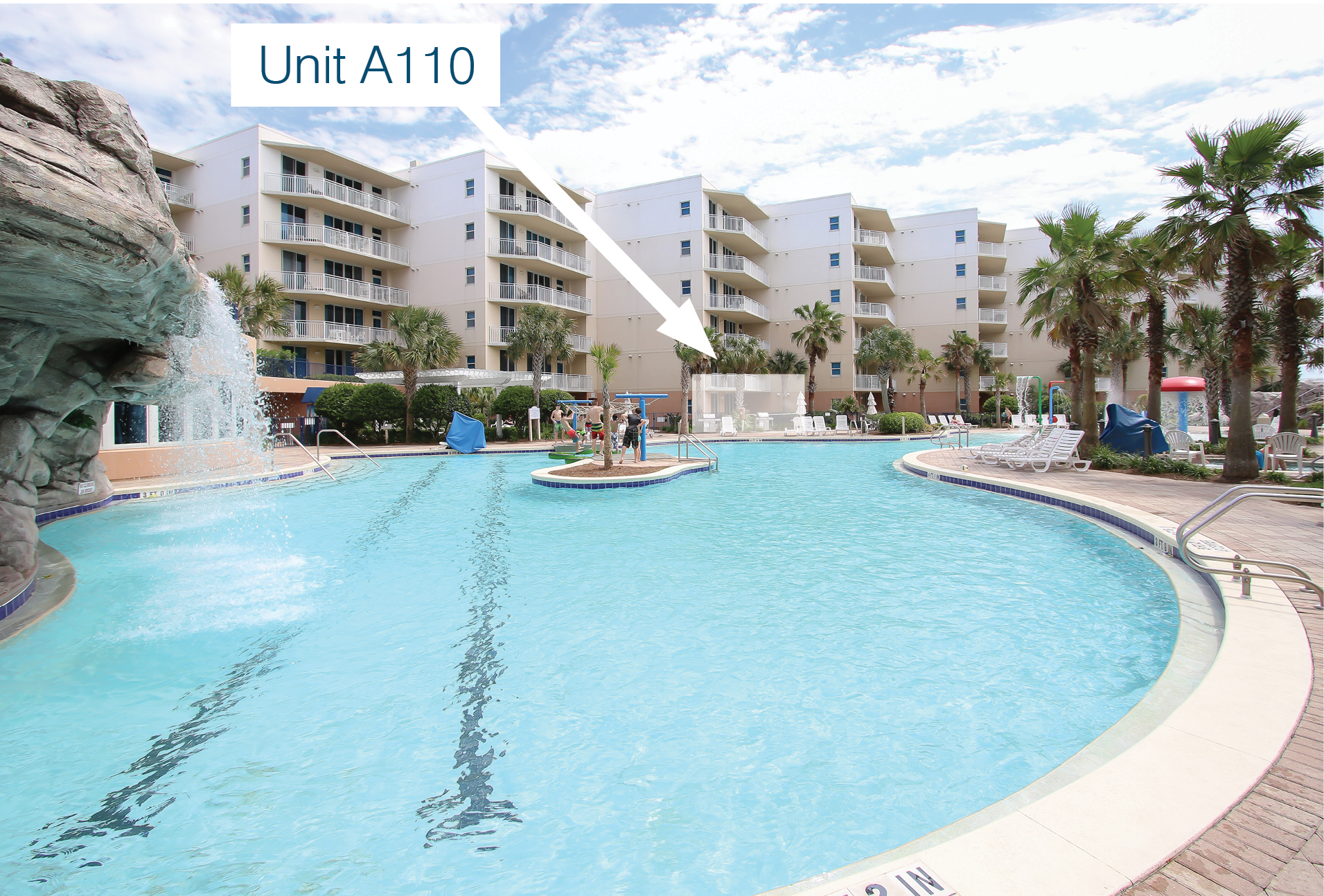 A110 Poolside Courtyard Unit