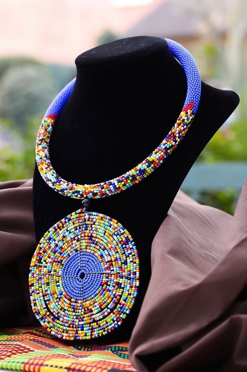 Dabang African Beaded Statement Necklace