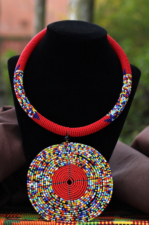 Da African Beaded Statement Necklace