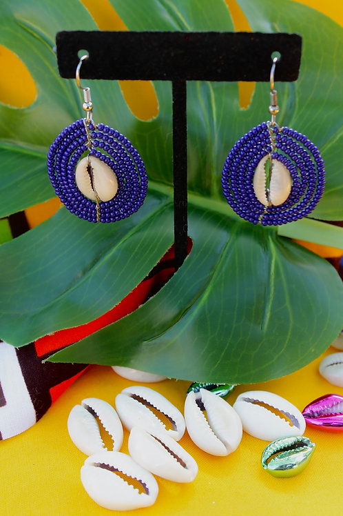 Royal Cowry Beaded Earring
