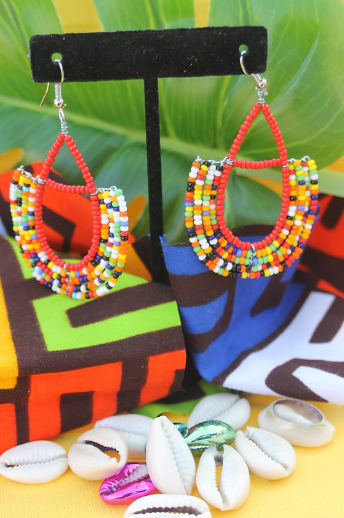 Runda Massai Beaded Earring