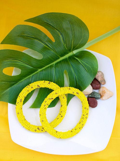 Sunflower Beaded Bracelet