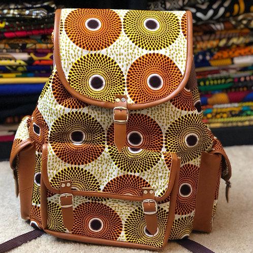 Ankara Print Large Backpack